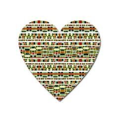 Aztec Grunge Pattern Magnet (Heart)