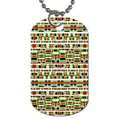 Aztec Grunge Pattern Dog Tag (Two-sided)