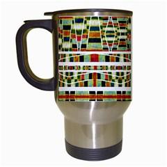 Aztec Grunge Pattern Travel Mug (White)