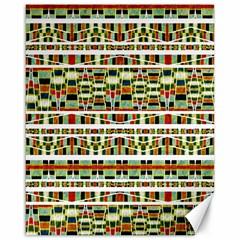 Aztec Grunge Pattern Canvas 16  X 20  (unframed)