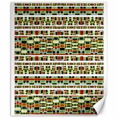 Aztec Grunge Pattern Canvas 20  x 24  (Unframed)