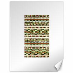 Aztec Grunge Pattern Canvas 36  x 48  (Unframed)