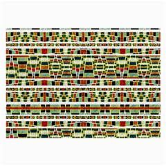 Aztec Grunge Pattern Glasses Cloth (Large)