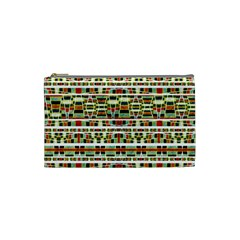 Aztec Grunge Pattern Cosmetic Bag (small)