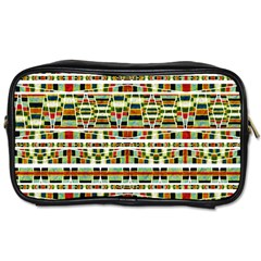 Aztec Grunge Pattern Travel Toiletry Bag (two Sides)