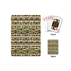 Aztec Grunge Pattern Playing Cards (Mini)