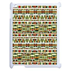 Aztec Grunge Pattern Apple Ipad 2 Case (white)