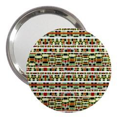 Aztec Grunge Pattern 3  Handbag Mirror