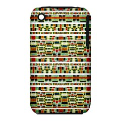 Aztec Grunge Pattern Apple Iphone 3g/3gs Hardshell Case (pc+silicone)