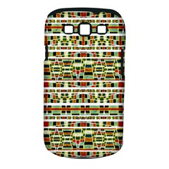 Aztec Grunge Pattern Samsung Galaxy S Iii Classic Hardshell Case (pc+silicone)