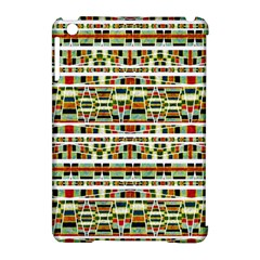 Aztec Grunge Pattern Apple iPad Mini Hardshell Case (Compatible with Smart Cover)