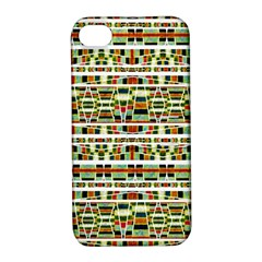Aztec Grunge Pattern Apple iPhone 4/4S Hardshell Case with Stand
