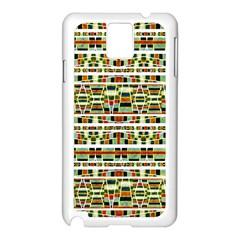 Aztec Grunge Pattern Samsung Galaxy Note 3 N9005 Case (White)