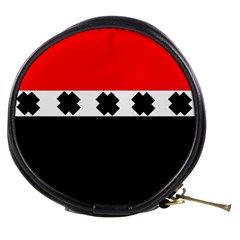 Red, White And Black With X s Design By Celeste Khoncepts Mini Makeup Case