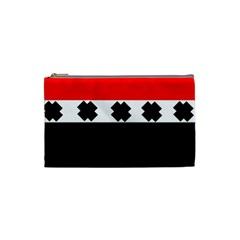 Red, White And Black With X s Design By Celeste Khoncepts Cosmetic Bag (small)