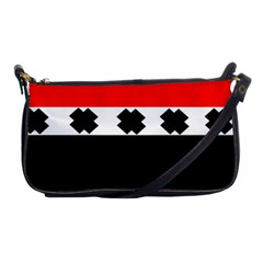 Red, White And Black With X s Design By Celeste Khoncepts Evening Bag