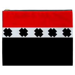 Red, White And Black With X s Design By Celeste Khoncepts Cosmetic Bag (XXXL)