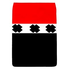 Red, White And Black With X s Design By Celeste Khoncepts Removable Flap Cover (small)