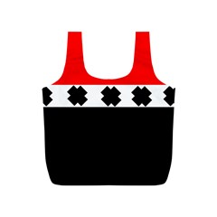 Red, White And Black With X s Design By Celeste Khoncepts Reusable Bag (S)