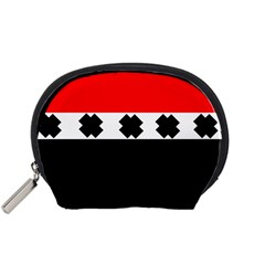 Red, White And Black With X s Design By Celeste Khoncepts Accessories Pouch (Small)