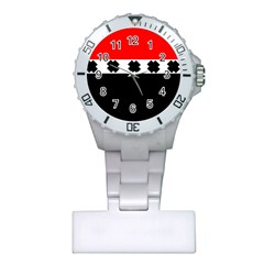 Red, White And Black With X s Design By Celeste Khoncepts Nurses Watch