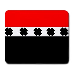 Red, White And Black With X s Electronic Accessories Large Mouse Pad (rectangle)