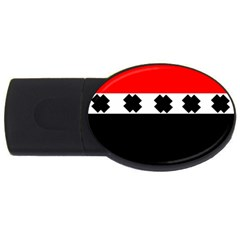Red, White And Black With X s Electronic Accessories 4gb Usb Flash Drive (oval)