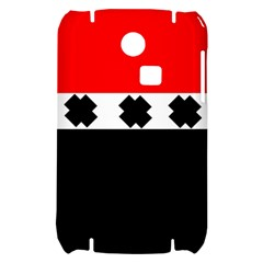 Red, White And Black With X s Electronic Accessories Samsung S3350 Hardshell Case