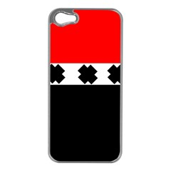 Red, White And Black With X s Electronic Accessories Apple Iphone 5 Case (silver)