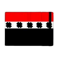 Red, White And Black With X s Electronic Accessories Apple Ipad Mini Flip Case