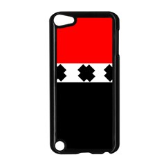 Red, White And Black With X s Electronic Accessories Apple Ipod Touch 5 Case (black)