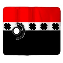Red, White And Black With X s Electronic Accessories Samsung Galaxy Note II Flip 360 Case