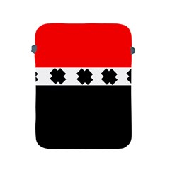 Red, White And Black With X s Electronic Accessories Apple Ipad Protective Sleeve
