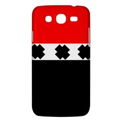 Red, White And Black With X s Electronic Accessories Samsung Galaxy Mega 5.8 I9152 Hardshell Case