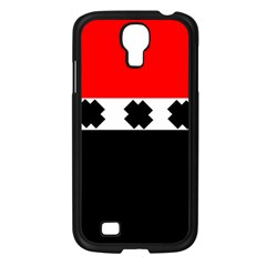 Red, White And Black With X s Electronic Accessories Samsung Galaxy S4 I9500/ I9505 Case (Black)