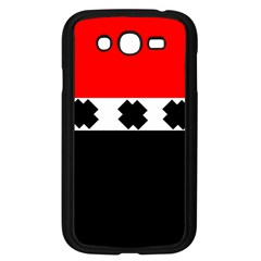 Red, White And Black With X s Electronic Accessories Samsung Galaxy Grand Duos I9082 Case (black)