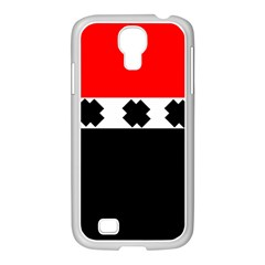 Red, White And Black With X s Electronic Accessories Samsung GALAXY S4 I9500/ I9505 Case (White)