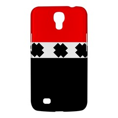 Red, White And Black With X s Electronic Accessories Samsung Galaxy Mega 6 3  I9200 Hardshell Case