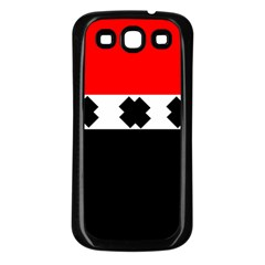 Red, White And Black With X s Electronic Accessories Samsung Galaxy S3 Back Case (black)