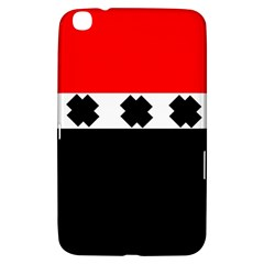 Red, White And Black With X s Electronic Accessories Samsung Galaxy Tab 3 (8 ) T3100 Hardshell Case