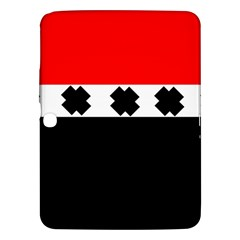Red, White And Black With X s Electronic Accessories Samsung Galaxy Tab 3 (10 1 ) P5200 Hardshell Case