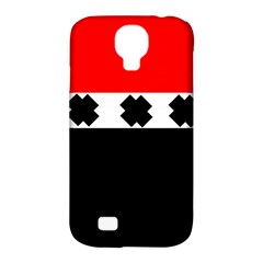 Red, White And Black With X s Electronic Accessories Samsung Galaxy S4 Classic Hardshell Case (pc+silicone)