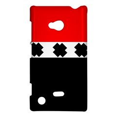 Red, White And Black With X s Electronic Accessories Nokia Lumia 720 Hardshell Case