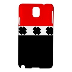 Red, White And Black With X s Electronic Accessories Samsung Galaxy Note 3 N9005 Hardshell Case