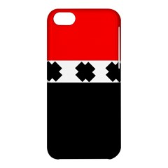 Red, White And Black With X s Electronic Accessories Apple iPhone 5C Hardshell Case