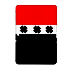 Red, White And Black With X s Electronic Accessories Samsung Galaxy Tab 2 (10.1 ) P5100 Hardshell Case