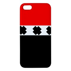 Red, White And Black With X s Electronic Accessories Iphone 5s Premium Hardshell Case