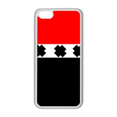 Red, White And Black With X s Electronic Accessories Apple Iphone 5c Seamless Case (white)