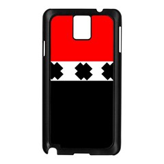Red, White And Black With X s Electronic Accessories Samsung Galaxy Note 3 N9005 Case (Black)