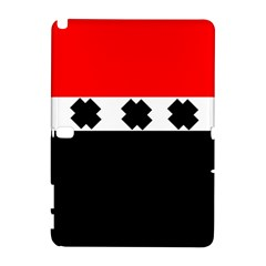 Red, White And Black With X s Electronic Accessories Samsung Galaxy Note 10.1 (P600) Hardshell Case